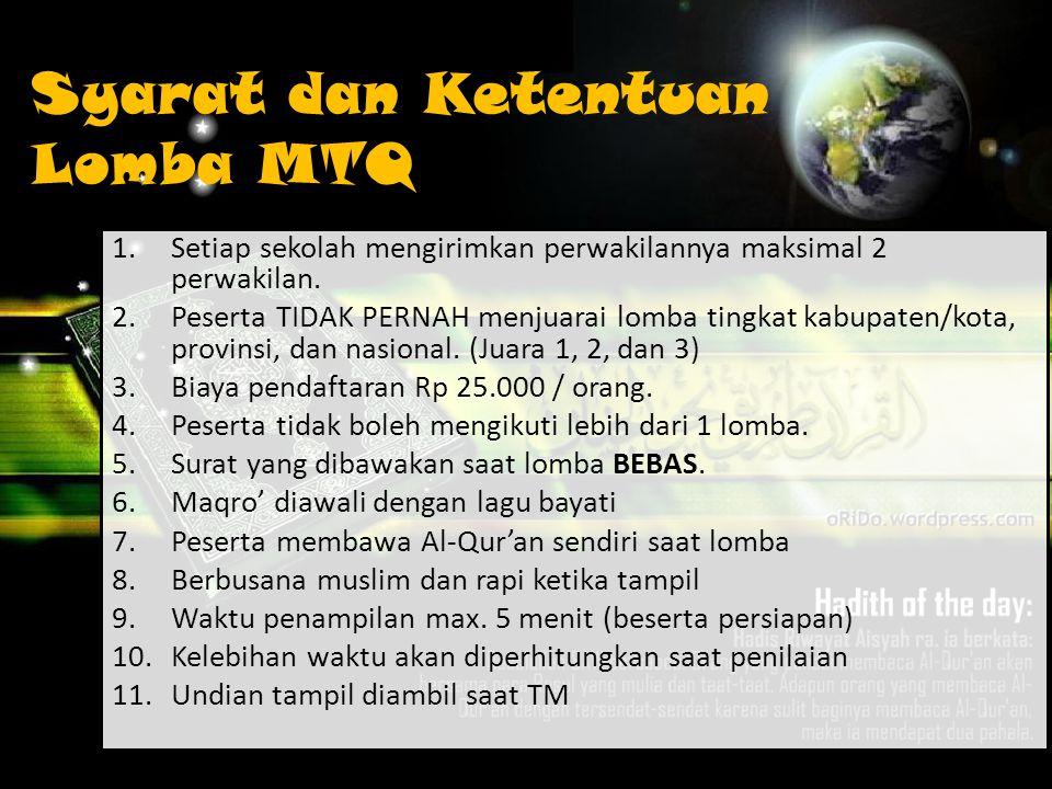 Lomba MTQ Musabaqah Tilawatil Qur'an