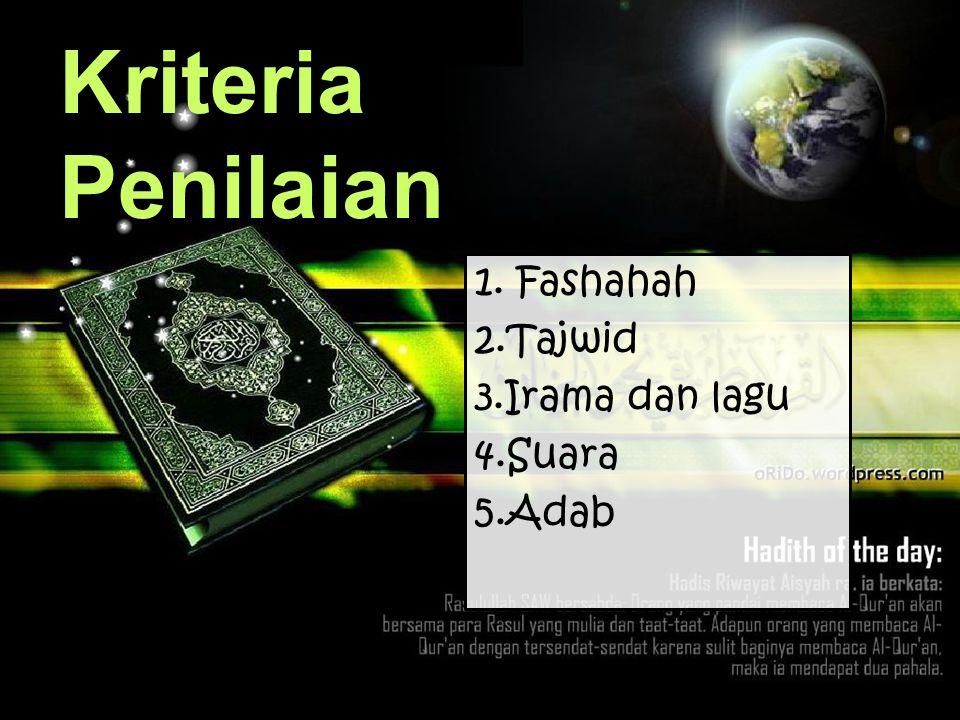 6.Peserta akan diberikan petunjuk waktu dengan 3 lampu berwarna hijau, kuning, dan merah :  Hijau berarti peserta memulai untuk membaca surat  Kunin