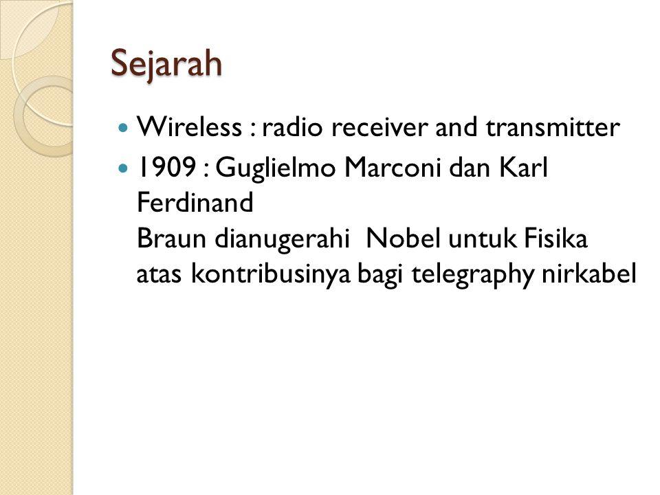 Sejarah  Komunikasi nirkabel menggunakan spektrum tertentu  Setiap range ( alokasi frekuensi ) di peruntukkan bagi siapa dan untuk keperluan apa.