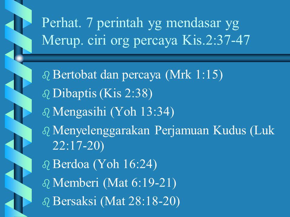 Prinsip-prinsip Untuk Perintisan Jemaat Setempat Yang Berlipatganda b b Model pelatihan/ penggembalaan melalui berantai. (2 Timotius 2:2) Usahakan aga