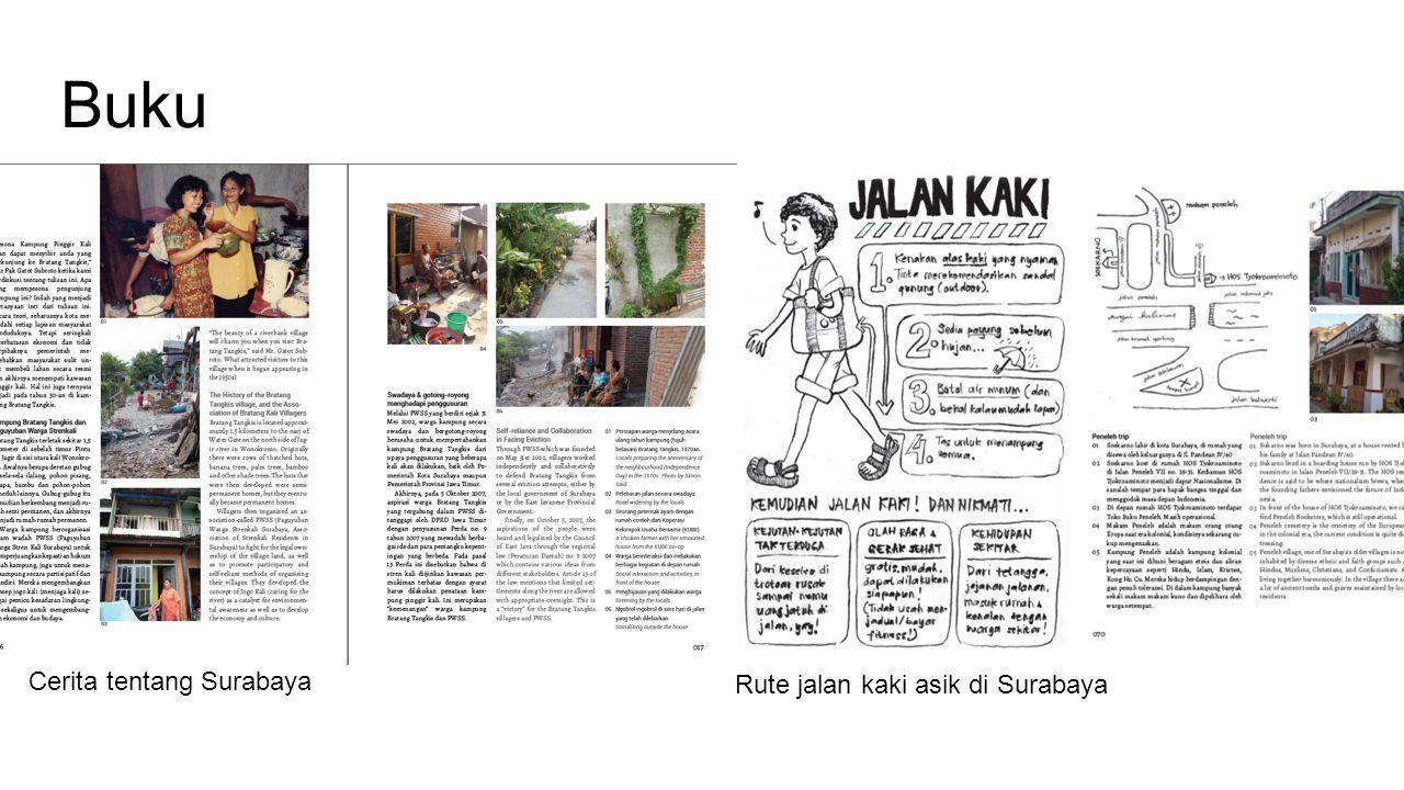 Buku Cerita tentang Surabaya Rute jalan kaki asik di Surabaya