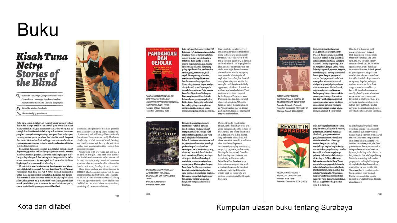Buku Kota dan difabel Kumpulan ulasan buku tentang Surabaya