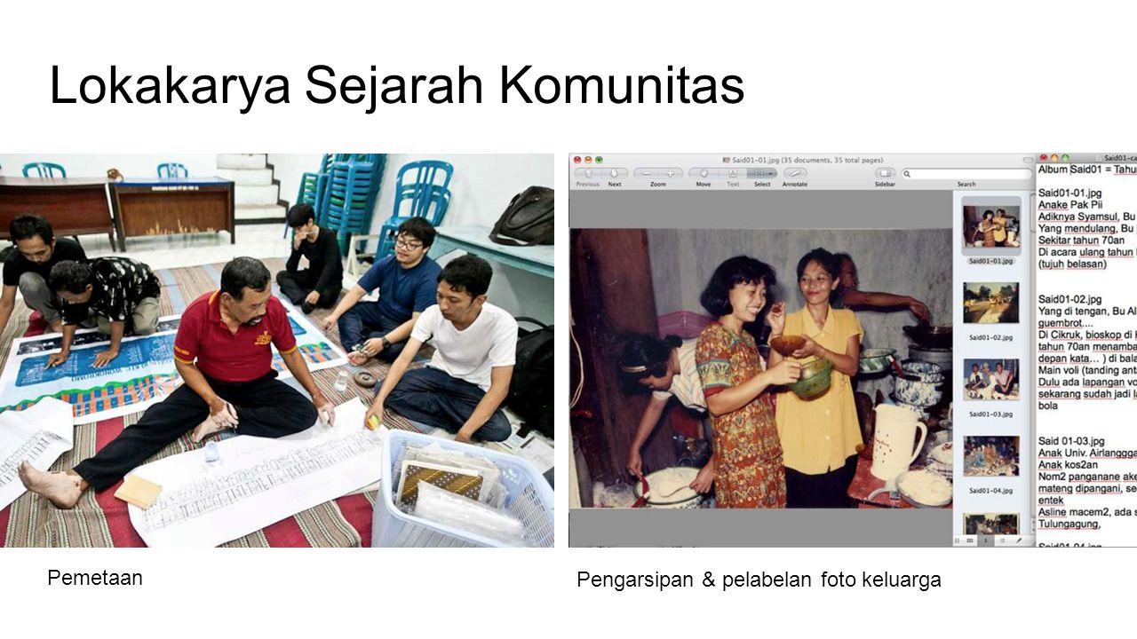 Lokakarya Sejarah Komunitas Pemetaan Pengarsipan & pelabelan foto keluarga