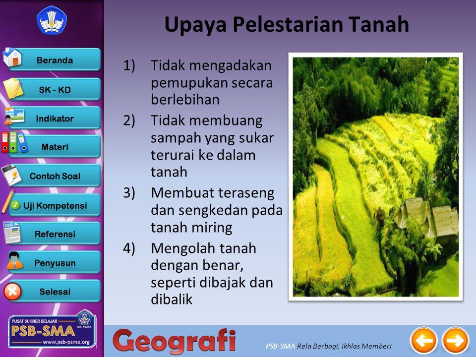 PSB-SMA Rela Berbagi, Ikhlas Memberi 1)Membudidayakan tanaman langka 2)Membuat suaka margasatwa untuk melindungi fauna yang langka 3)Menetapkan cagar