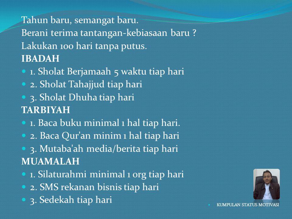  Behaviour Mujahid  Point 6.Deliver Result.  Memberikan hasil.