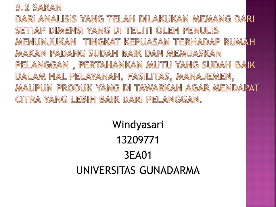 Windyasari 13209771 3EA01 UNIVERSITAS GUNADARMA