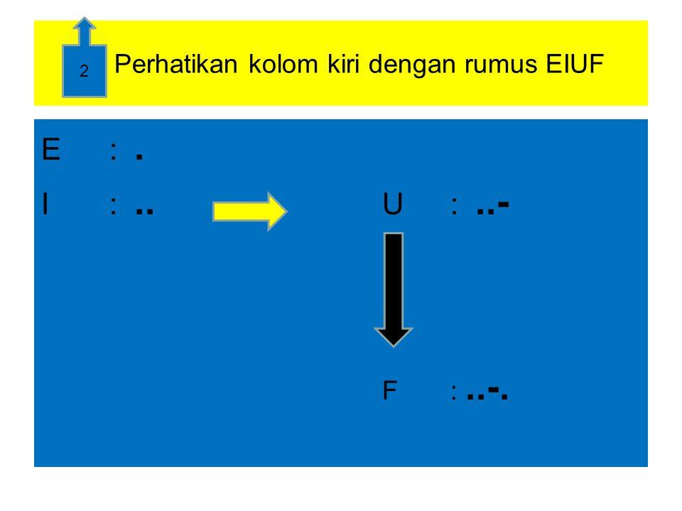 Perhatikan kolom berikutnya dan turunanya dan masih diawali titik E:.