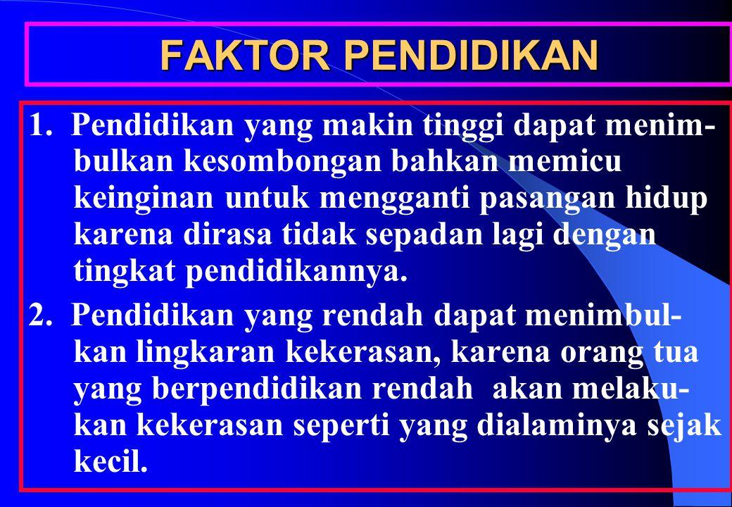 FAKTOR PENDIDIKAN 1.
