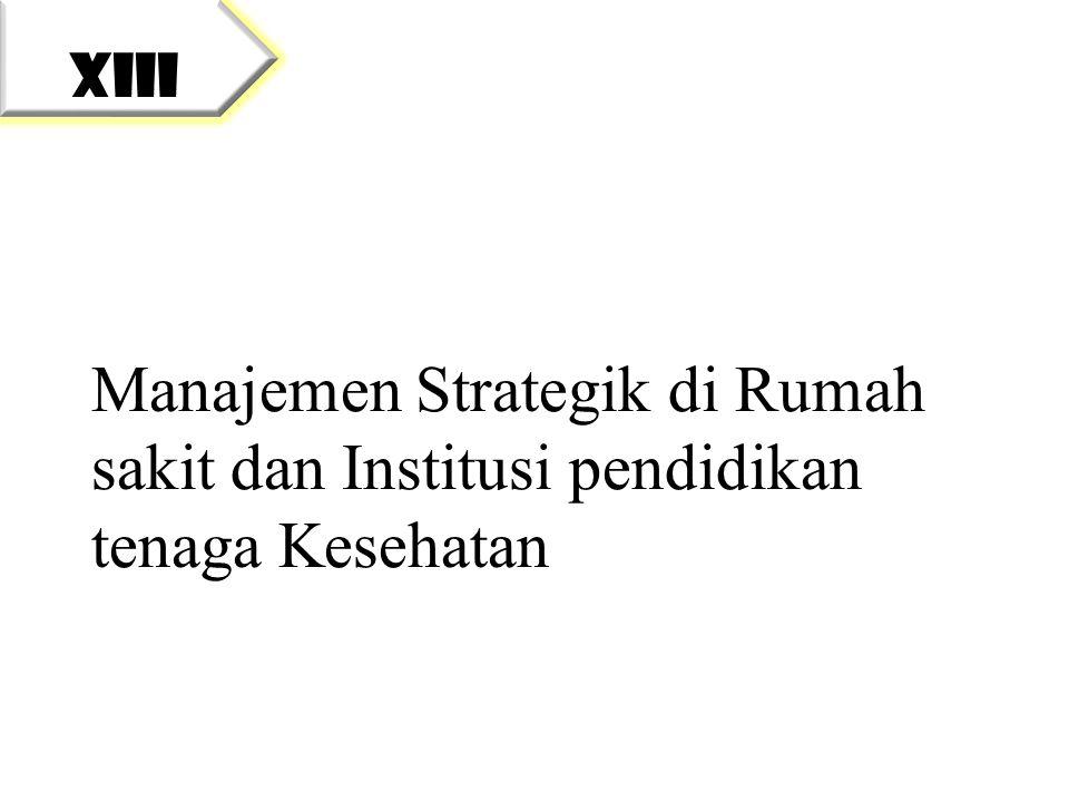 Manajemen Strategik di Rumah sakit dan Institusi pendidikan tenaga Kesehatan XIII