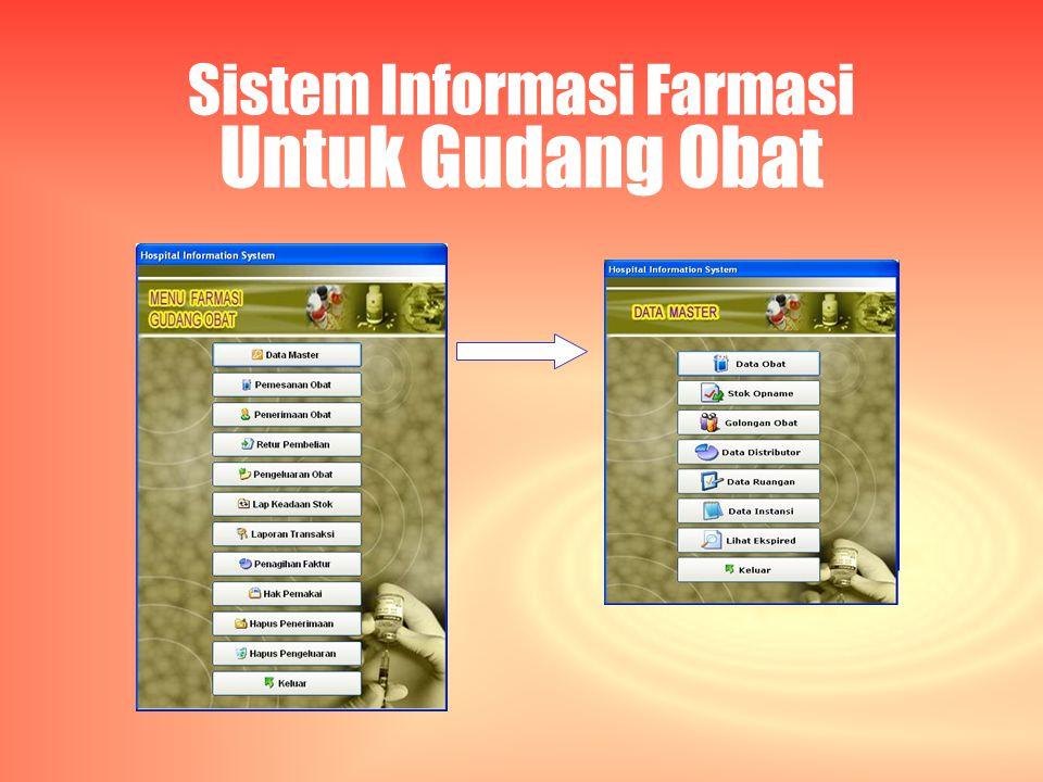 Sistem Informasi Farmasi Untuk Gudang Obat