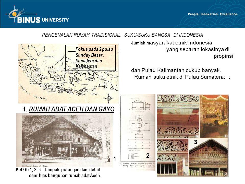 PENGENALAN RUMAH TRADISIONAL SUKU-SUKU BANGSA DI INDONESIA Jumlah m asyarakat etnik Indonesia yang sebaran lokasinya di berbagai propinsi yang ada di