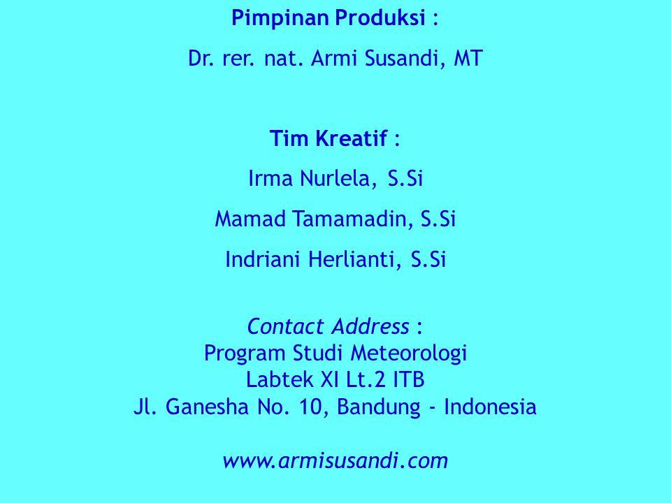 Pimpinan Produksi : Dr.rer. nat.