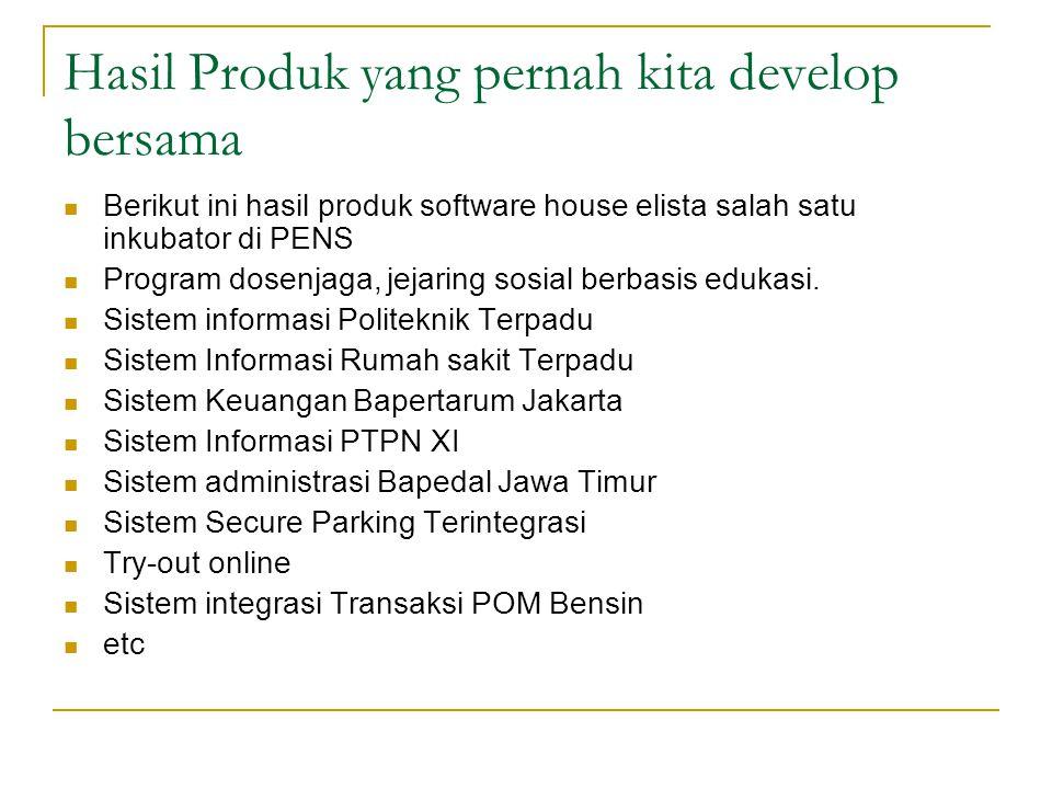 Hasil Produk yang pernah kita develop bersama  Berikut ini hasil produk software house elista salah satu inkubator di PENS  Program dosenjaga, jejar