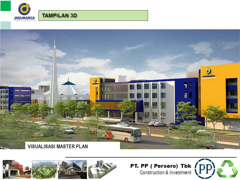 PT. PP ( Persero) Tbk Construction & Investment VISUALISASI MASTER PLAN TAMPILAN 3D