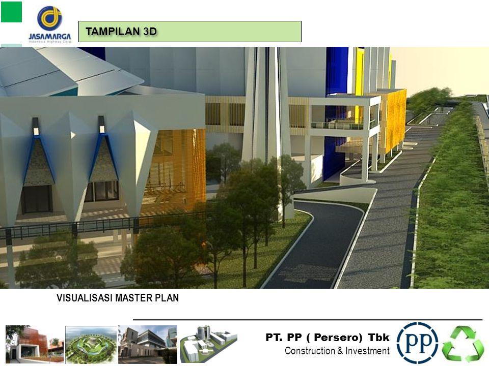 PT. PP ( Persero) Tbk Construction & Investment POTONGAN KAWASAN TOLL ROAD TAMPILAN 3D