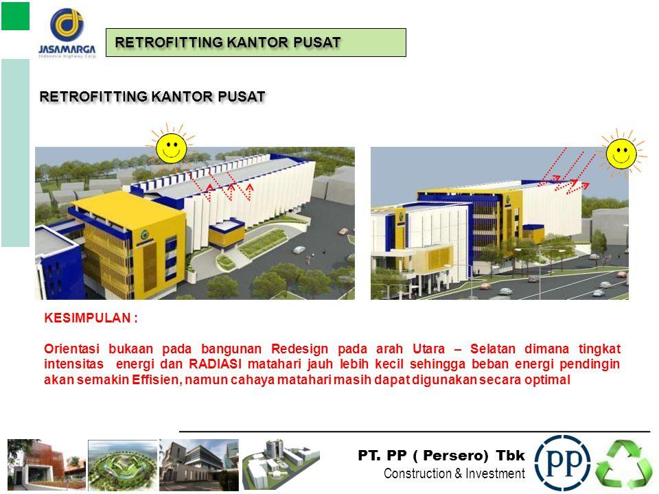 PT. PP ( Persero) Tbk Construction & Investment RETROFITTING KANTOR PUSAT