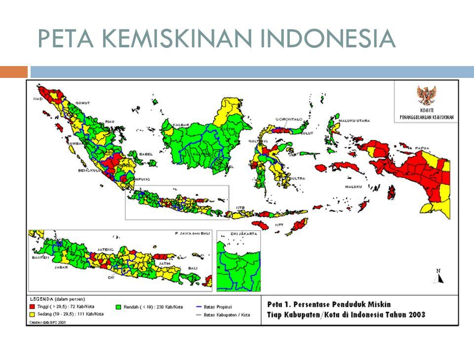 PETA KEMISKINAN INDONESIA