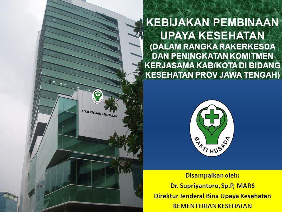 NO.NAMA PROVINSI PUSKESMAS PERAWATAN PUSKESMAS NON PERAWATAN PUSKESMAS PEMBANTU (PUSTU) JUMLAH 1Nanggroe Aceh Darussalam116199881 1196 2Sumatera Utara1403661801 2307 3Sumatera Barat85161857 1103 4Riau53140723 916 5Jambi59110547 716 6Sumatera Selatan82211983 1276 7Bengkulu39131466 636 8Lampung58207776 1041 9Kepulauan Bangka Belitung1840155 213 10Kepulauan Riau2640204 270 11DKI Jakarta522892 343 12Jawa Barat2377911600 2628 13Jawa Tengah2526151759 2626 14DI Yogyakarta4279321 442 15Jawa Timur3965502252 3198 16Banten50167267 484 JUMLAH PUSKESMAS PER PROVINSI DI INDONESIA KEADAAN DESEMBER 2010 (1) Sumber : Pusdatin Kemkes RI, 2010 KEMENTERIAN KESEHATAN REPUBLIK INDONESIA
