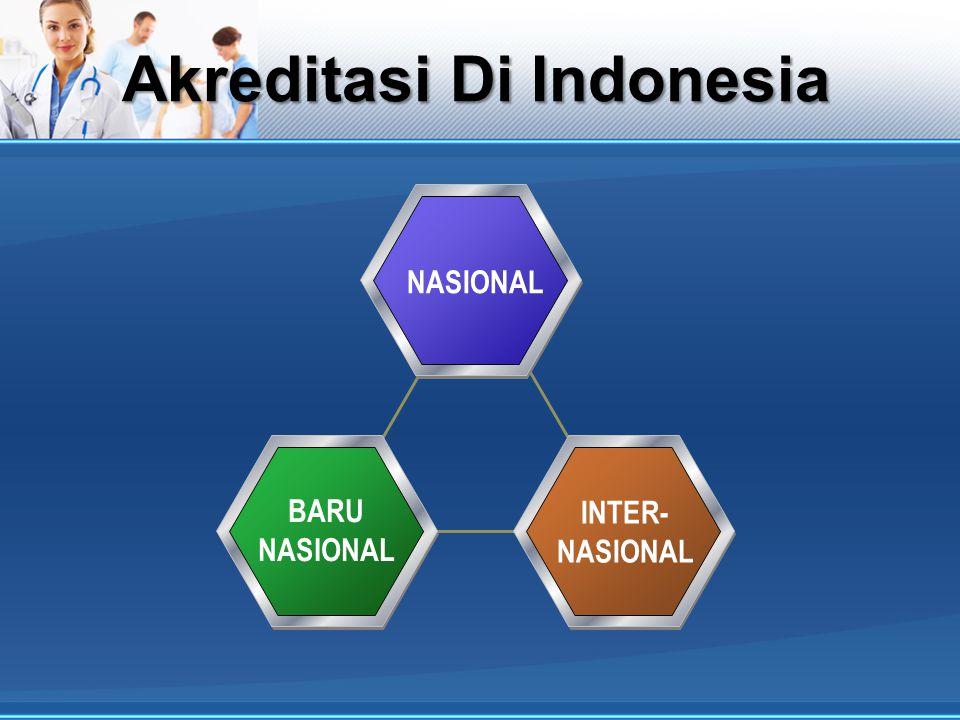 Akreditasi Di Indonesia NASIONAL BARU NASIONAL INTER- NASIONAL