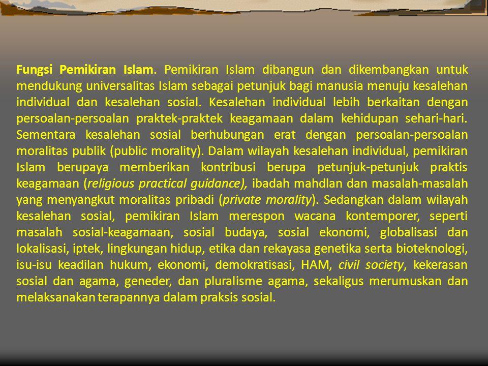 Fungsi Pemikiran Islam.