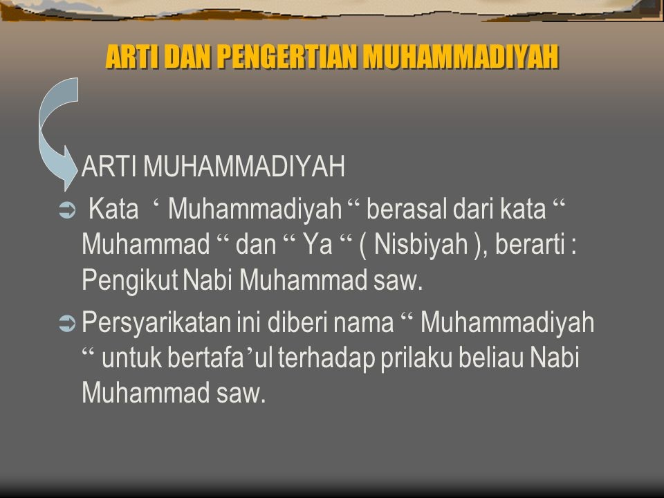 Muhammadiyah .Muhammadiyah .