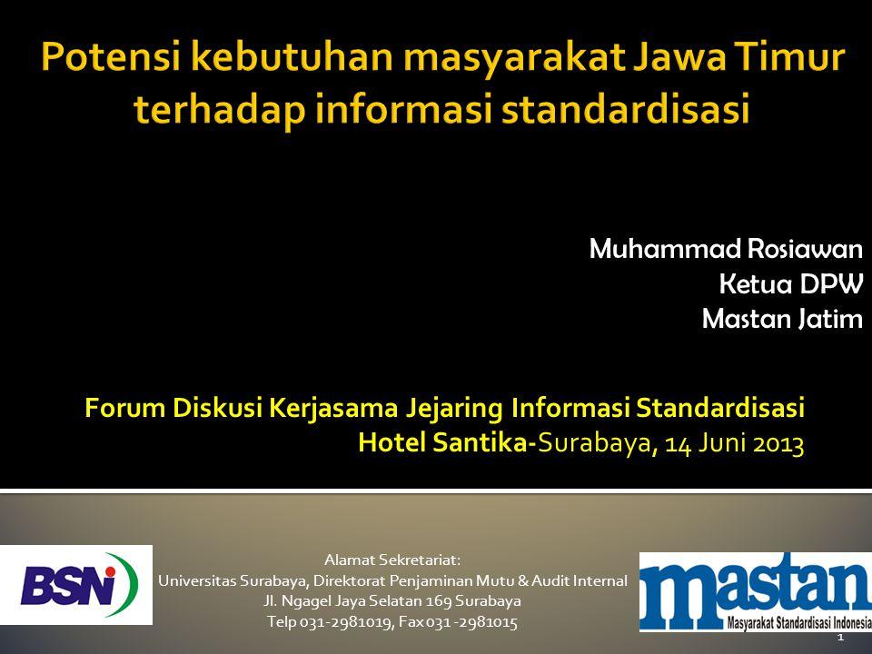 Alamat Sekretariat: Universitas Surabaya, Direktorat Penjaminan Mutu & Audit Internal Jl. Ngagel Jaya Selatan 169 Surabaya Telp 031-2981019, Fax 031 -