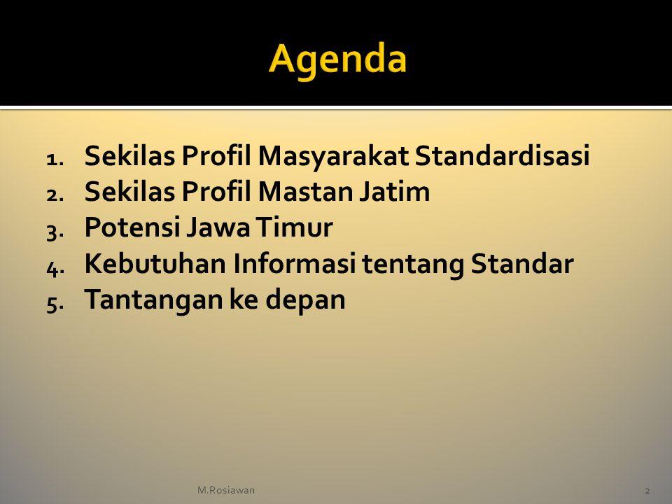 1. Sekilas Profil Masyarakat Standardisasi 2. Sekilas Profil Mastan Jatim 3. Potensi Jawa Timur 4. Kebutuhan Informasi tentang Standar 5. Tantangan ke