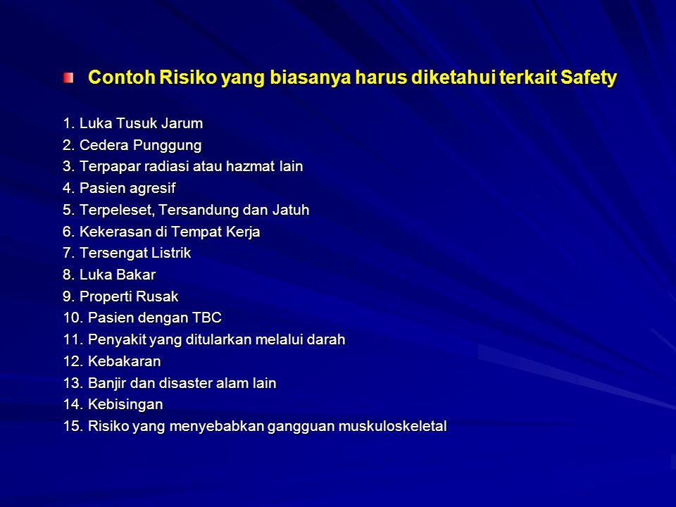 Contoh Risiko yang biasanya harus diketahui terkait Safety 1.