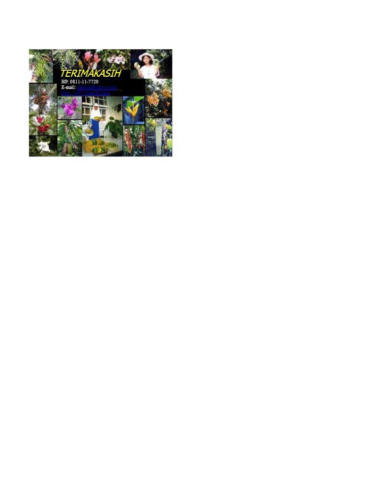 TERIMAKASIH HP: 0811-11-7720 E-mail: dedhsa@yahoo.comdedhsa@yahoo.com http://www.hsarifin.com