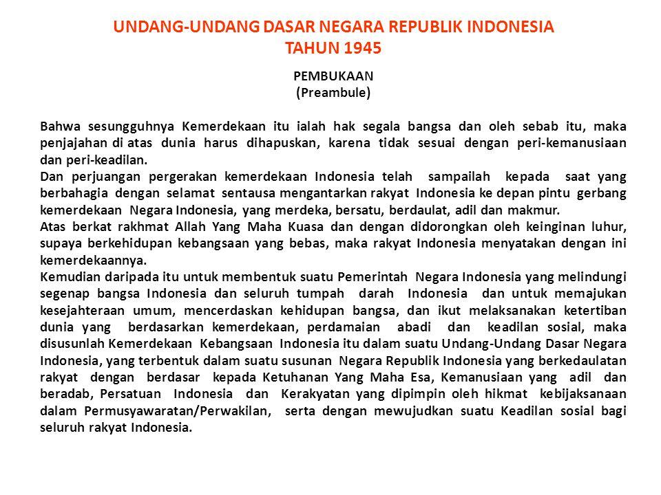 WILAYAH NEGARA Negara Kesatuan Republik Indonesia adalah sebuah negara kepulauan yang berciri Nusantara dengan wilayah yang batas-batas dan hak-haknya ditetapkan dengan undang-undang (Pasal 25A) ** BATAS ZEE BATAS WILAYAH