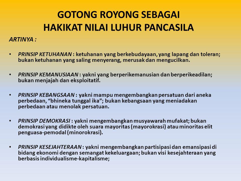 KETUHANAN YANG MAHA ESA KEMANUSIAAN YANG ADIL DAN BERADAB PERSATUAN INDONESIA KERAKYATAN YG DIPIMPIN OLEH HIKMAT KEBIJAKSANAAN DLM PERMUSYAWARATAN PERWAKILAN KEADILAN SOSIAL BAGI SELURUH RAKYAT INDONESIA