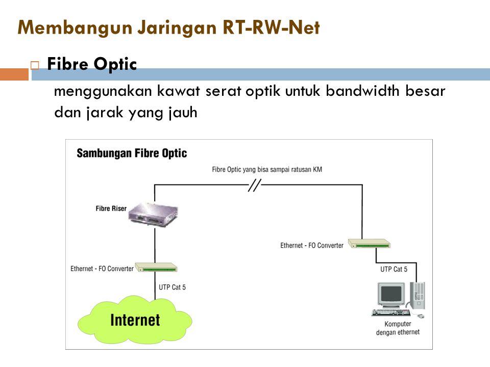 Membangun Jaringan RT-RW-Net  Fibre Optic menggunakan kawat serat optik untuk bandwidth besar dan jarak yang jauh