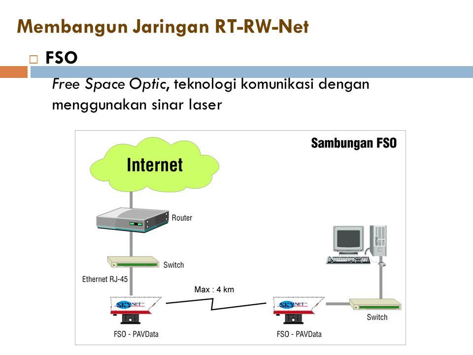 Membangun Jaringan RT-RW-Net  FSO Free Space Optic, teknologi komunikasi dengan menggunakan sinar laser