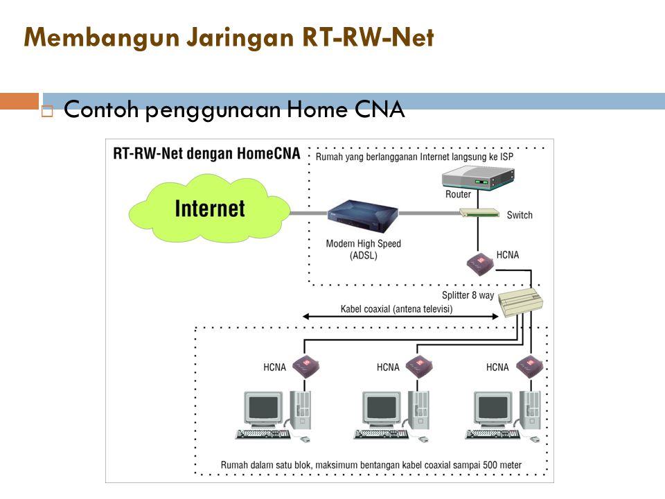 Membangun Jaringan RT-RW-Net  Contoh penggunaan Home CNA