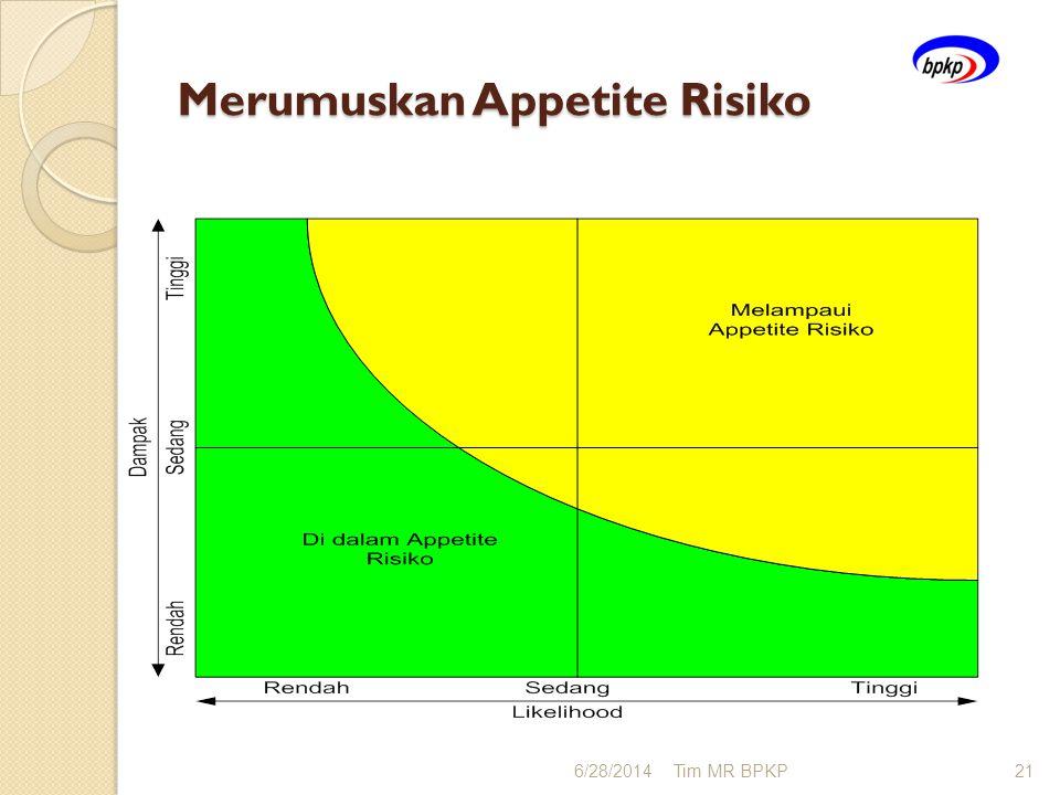 Merumuskan Appetite Risiko 6/28/2014Tim MR BPKP21