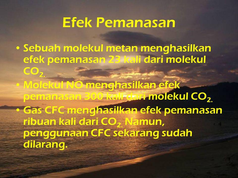 Kontributor terbesar pemanasan global •Karbondioksida (CO 2 ) •Metana (CH 4 ) yang dihasilkan agrikultur dan peternakan (terutama dari sistem pencerna