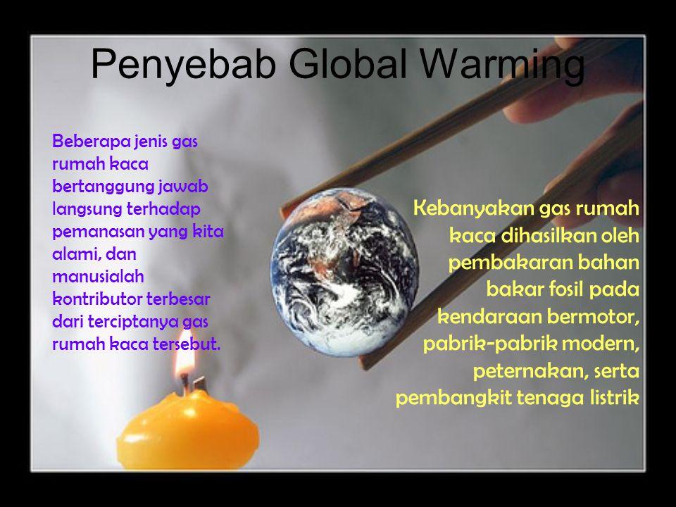 Apa itu Global Warming (pemanasan global)? Pemanasan Global adalah meningkatnya suhu rata-rata permukaan bumi akibat peningkatan jumlah emisi Gas Ruma