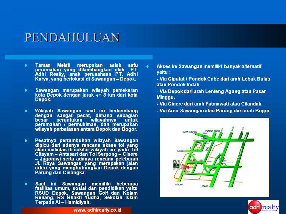 TENTANG TAMAN MELATI SAWANGAN  Perumahan Taman Melati Sawangan terletak di Jl.
