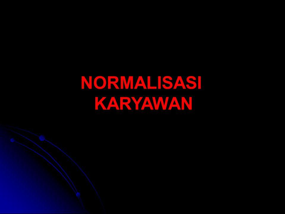NORMALISASI KARYAWAN