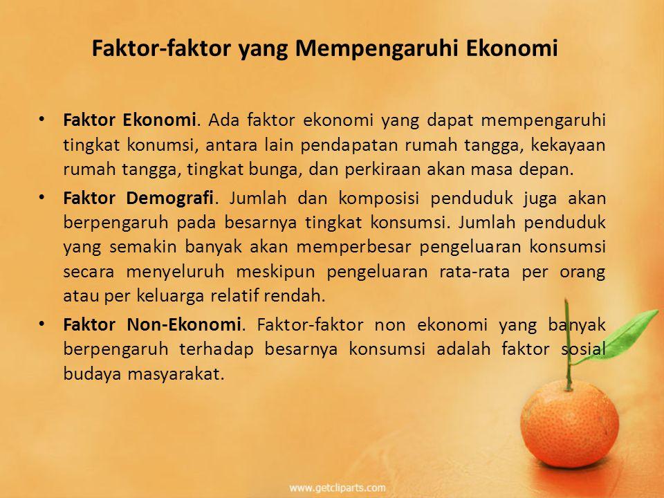 Faktor-faktor yang Mempengaruhi Ekonomi • Faktor Ekonomi.