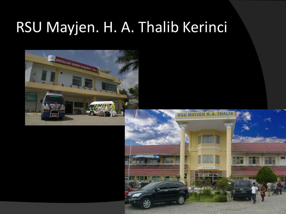 RSU Mayjen. H. A. Thalib Kerinci