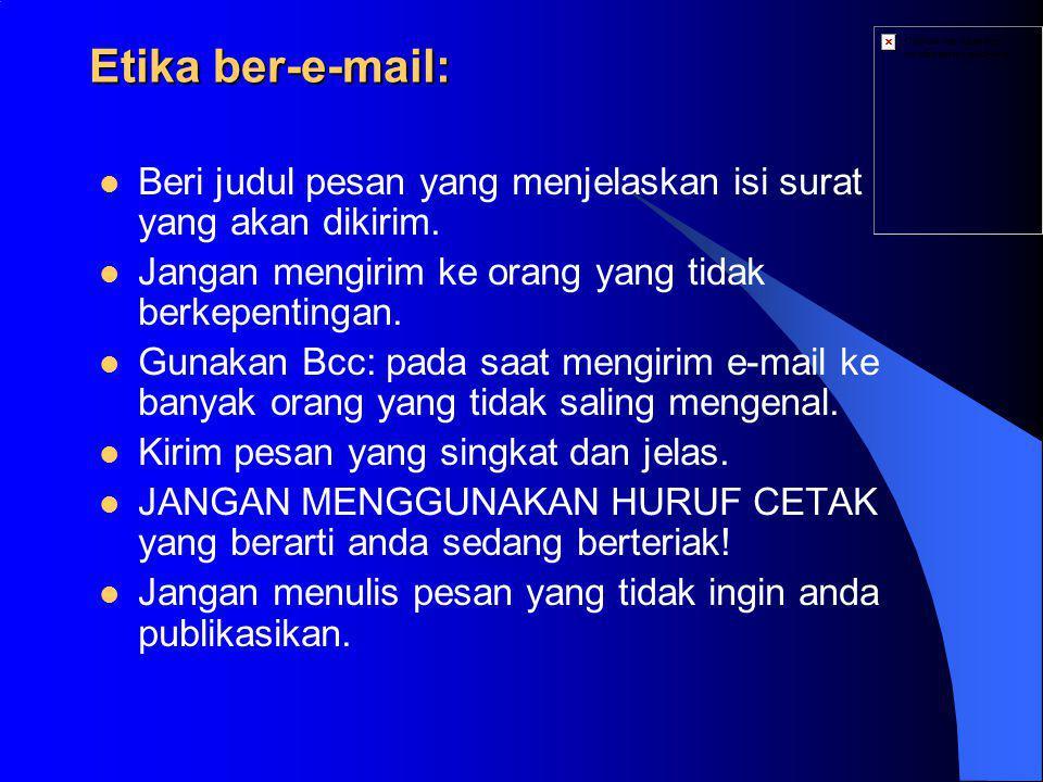 Cara mendaftar:  Mengisi formulir pendaftaran di Brosur Mailkita (off-line) atau situs Mailkita (on-line).