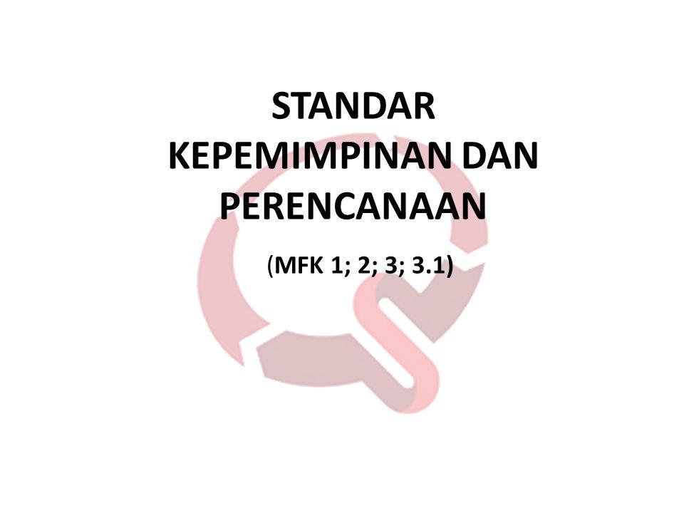 STANDAR KEPEMIMPINAN DAN PERENCANAAN (MFK 1; 2; 3; 3.1)
