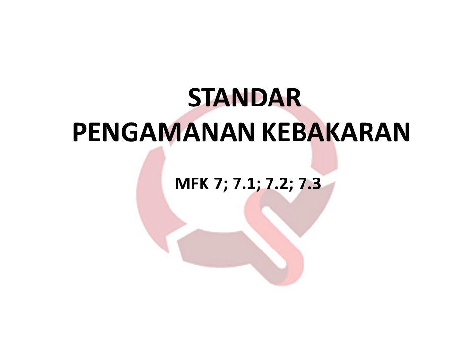 STANDAR PENGAMANAN KEBAKARAN MFK 7; 7.1; 7.2; 7.3