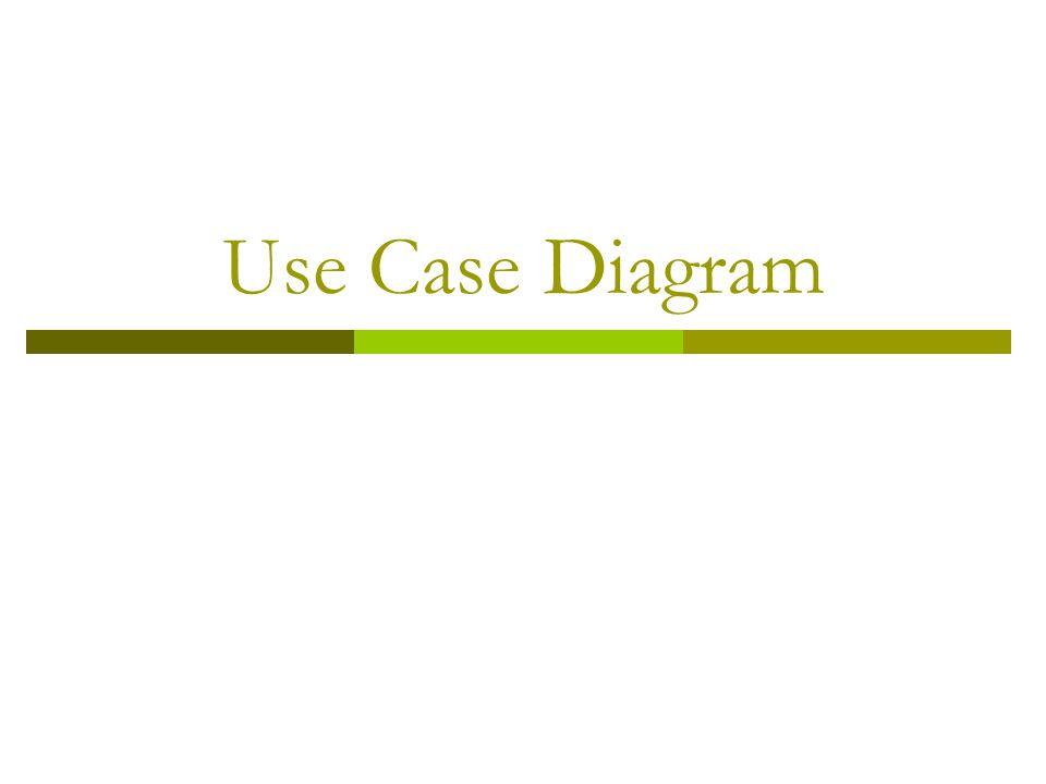 Use Case  Adalah bagian fungsionalitas tingkat tinggi yang disediakan oleh sistem.