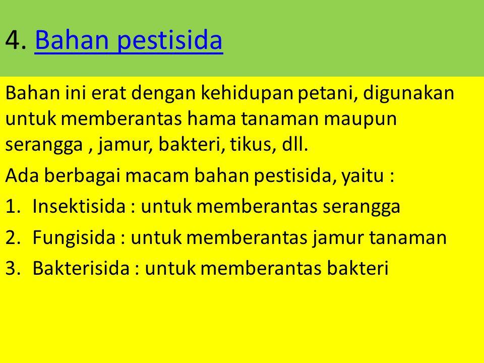 3. Bahan pewangiBahan pewangi Pewangi bisa dihasilkan dari bahan alam maupun sintetik. Biasanya dibuat dari campuran alkohol dengan ditambahkan aroma