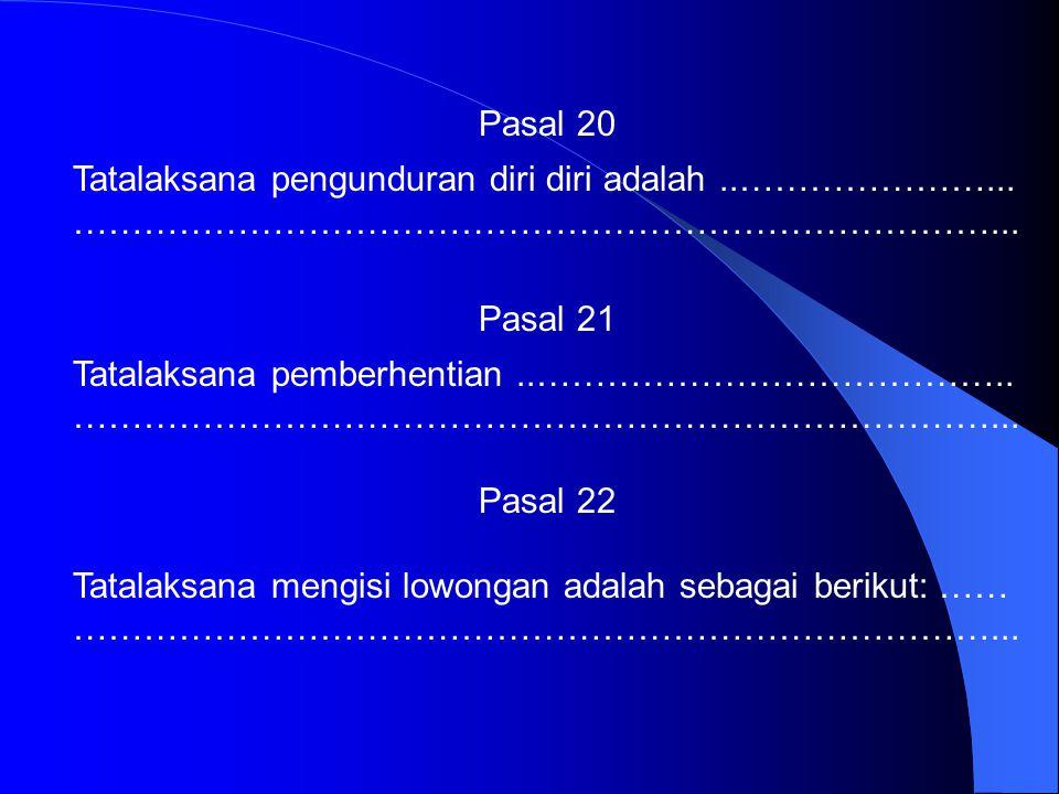 BAB X PENGURUS LAYANAN KLINIK Pasal 16 Pengurus yang bertanggungjawab terhadap layanan klinik terdiri atas: …………………………………………………..…… Pasal 17 Kewenanga
