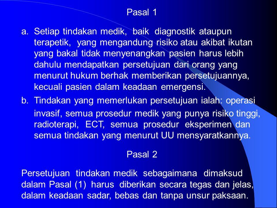 MENGINGAT: 1. UU No. 23 Tahun 1992 Tentang Kesehatan. 2. UU Hukum Perdata, Republik Indonesia. 3. UU No. 8 Th 1999 Tentang Perlindungan Konsumen. 4. P