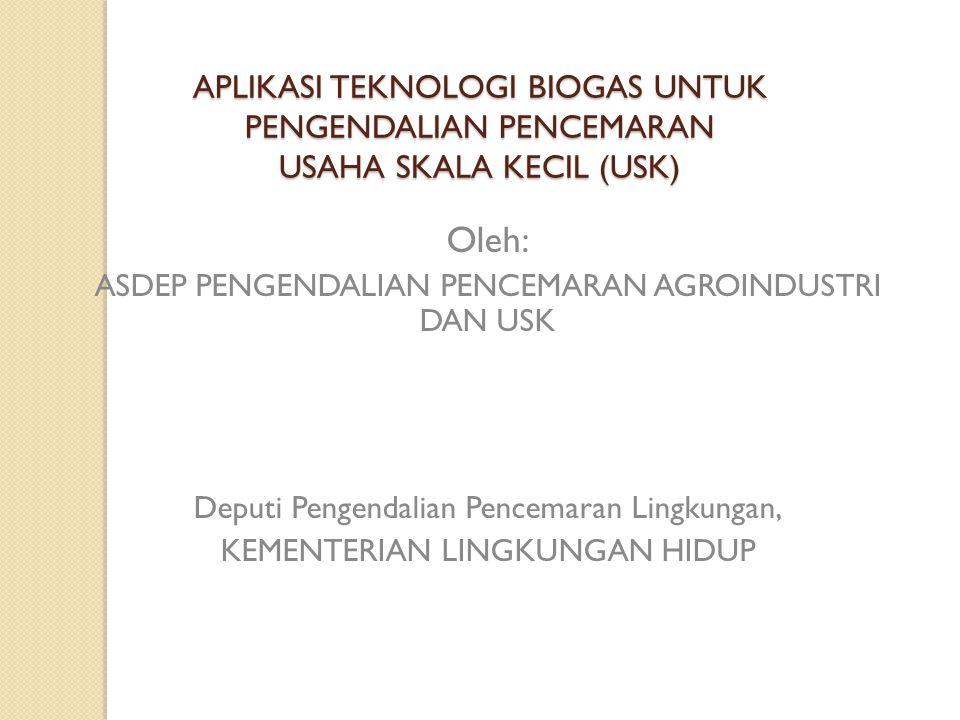 Percontohan IPAL-biogas Industri Tahu, KLH 2007-2012
