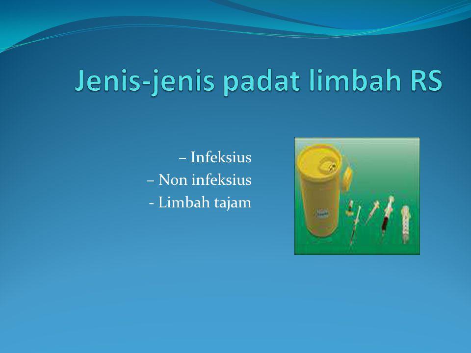 – Infeksius – Non infeksius - Limbah tajam